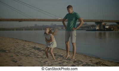Annoyed father having problems parenting his daughter - ...