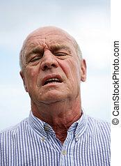 Annoyed old man