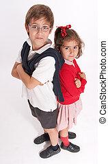 Annoyed siblings
