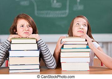 Annoyed students