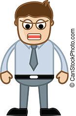 Annoying Boss - Business Cartoon