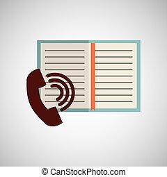 annuaire, adress, cahier