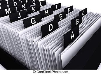 annuaire, bureau, fichier
