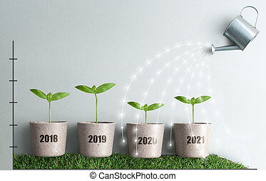 Annual business growth concept