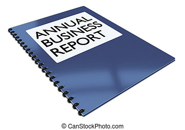 ANNUAL BUSINESS REPORT concept