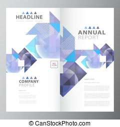 Clean business brochure annual report template eps vector search annual business report template flashek Choice Image