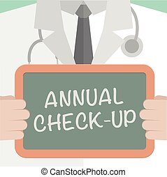 Annual Checkup - minimalistic illustration of a doctor ...