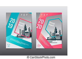 Annual report 2019,2020 ,future, business, template layout design