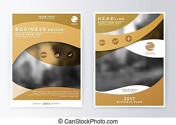 Annual report and brochure. Brochure template reports. The...