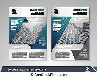 Annual report brochure - Blue annual report brochure flyer...