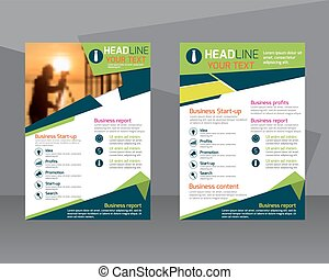 annual report brochure flyer design template leaflet cover presentation abstract flat background layout in