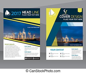 Annual report brochure flyer design template vector, Leaflet cover presentation abstract flat background, layout in A4 size