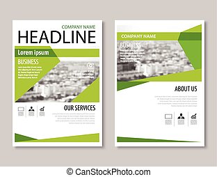 annual report brochure flyer design template vector, Leaflet cover presentation abstract flat background