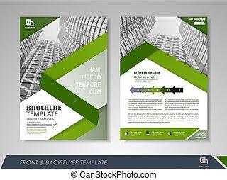 Annual report brochure - Green annual report brochure flyer...