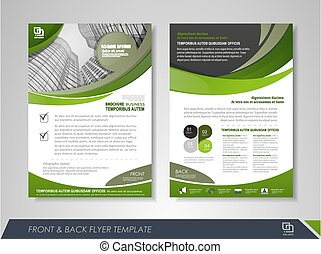 Annual report brochure - Green annual report brochure flyer ...