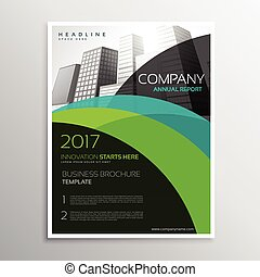 annual report brochure template flyer leaflet presentation