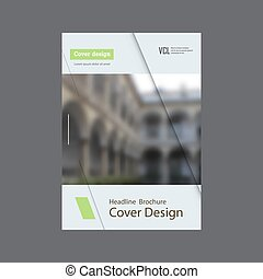Annual report brochure vector design template vector, Leaflet cover presentation abstract flat background