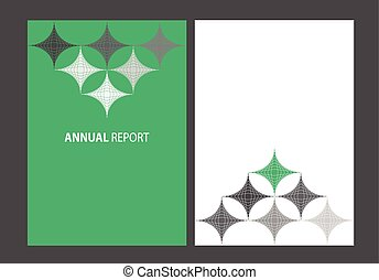 Annual report - Business annual report. A4 size brochure ...