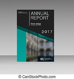 Annual report business magazine vector template. Cover book presentation in abstract design. Brochure background