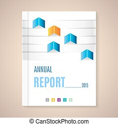 Annual Report Cover - Cover Annual Report numbers 2015