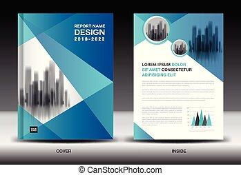 Annual Report Cover Design Brochure Flyer Template Business Advertisement Company Profile Magazine