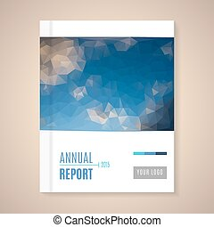 Annual Report Cover vector illustration - Cover Annual ...
