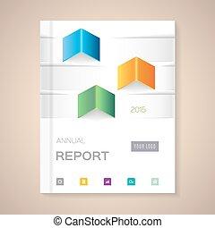 Annual Report Cover vector illustration - Cover Annual ...