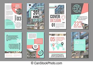 Annual report flyer. Business brochure design template....