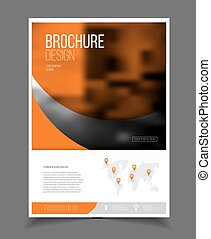 Annual report. Leaflet Brochure Flyer template A4 size...