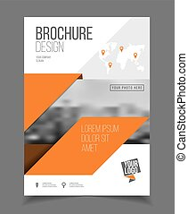 Annual report. Leaflet Brochure Flyer template A4 size ...