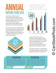 Annual report template with diagram