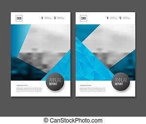 Annual report vector illustration