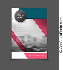Annual report vector illustration