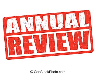Annual review sign or stamp - Annual review grunge rubber...