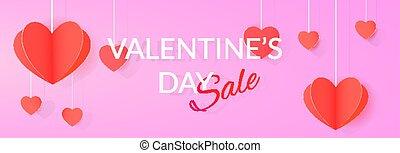 Annual valentine's day sale banner