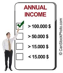 annuale, reddito
