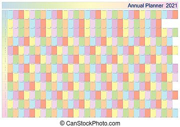 annuale, specifico, bianco, giorno feriale, pastell, collors...