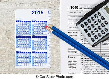 annualmente, preparazione, tassa, tempo