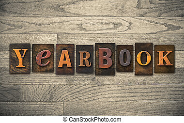 annuario, legno, letterpress, concetto