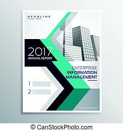 annuel, élégant, rapport, conception, a4, brochure, taille
