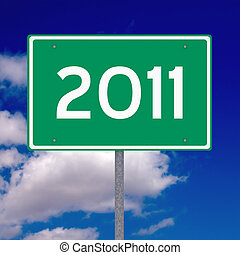 ano, 2011, à frente
