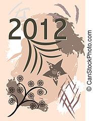 ano novo, 2012, feliz