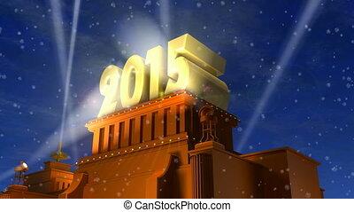 ano novo, 2015, conceito
