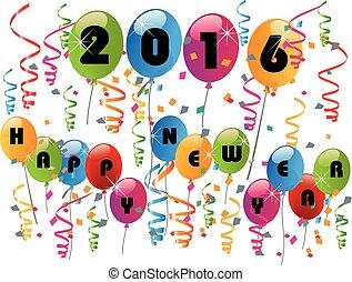 ano novo, 2016, feliz