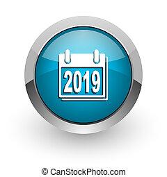 ano novo, 2019, ícone