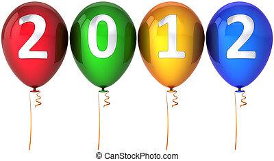 ano novo, balões, partido, 2012