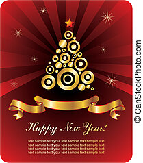 ano novo, cartão