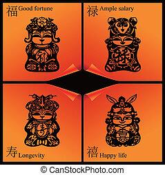 ano novo chinês, quadros