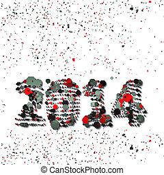 ano novo, ilustração, celebração