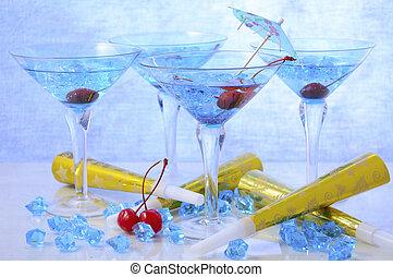 ano novo, partido, bebidas
